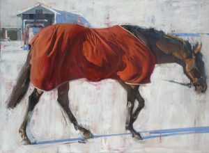 Cool Morning at Keeneland, 36x48, oil on panel