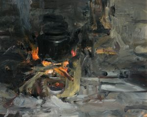 Country Stove, Vietnam, 16x20, oil on panel