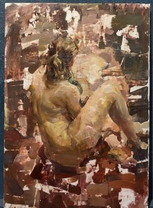 Seated Figure abstraction, 12x9