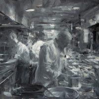 Chef Bonanno(lighter version), 20x20, oil on linen