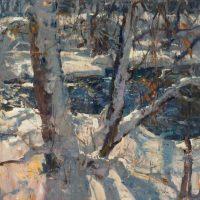 Bear Creek Winter, 24x24