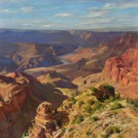 Late Afternoon in Grand Canyon, 36x36, oil on linen on board