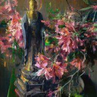 Meditation in Spring, 30x20, oil on linen