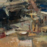 Mizuna Action 2, 20x20, oil on panel (8)